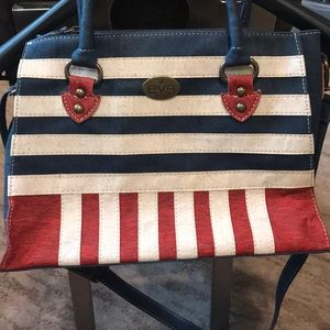 Brand new with out tags Patriotic cork purse